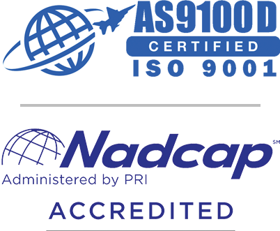 AS9100D Certified and Nadcap Accredited